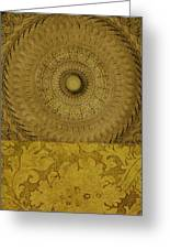Gold Wheel I Greeting Card