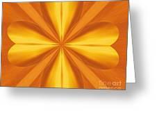 Golden 4 Leaf Clover  Greeting Card