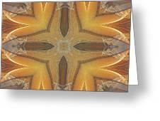 Golden Abstarct Energy Greeting Card