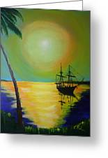Golden Anchorage Greeting Card