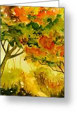 Golden Autumn Day Greeting Card