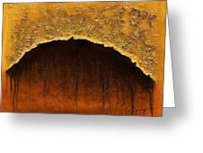 Golden Cave Greeting Card