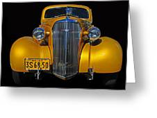 Golden Chevrolet Greeting Card