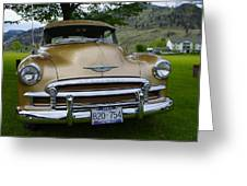 Golden Chevy Greeting Card