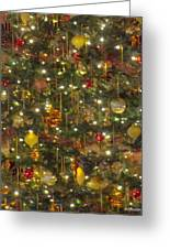 Golden Christmas Tree Greeting Card