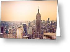 Golden City Of New York Greeting Card