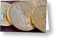 Golden Coins II Greeting Card