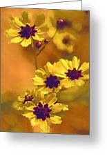 Golden Coreopsis Wildflowers  Greeting Card