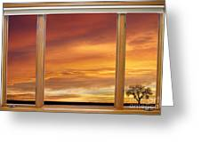 Golden Country Sunrise Window View Greeting Card by James BO  Insogna