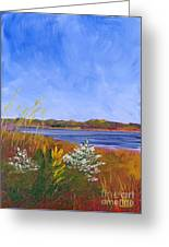 Golden Delaware River Greeting Card