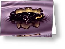 Golden Drop Greeting Card