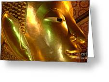 Golden Face Of Buddha Greeting Card