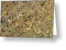 Golden Fluidity Greeting Card