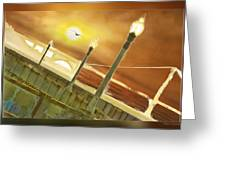 Golden Gate And Sea Gul Greeting Card