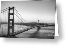 Golden Gate Black And White Greeting Card