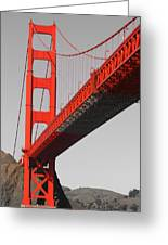 Golden Gate Bridge-touch Of Color Greeting Card