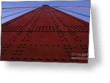 Golden Gate Bridge Vertical Greeting Card