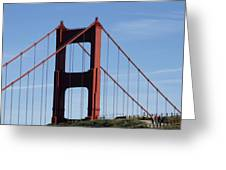 Golden Gate North Tower Greeting Card
