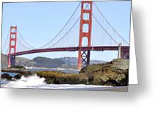 Golden Gate On A Sunny Day Greeting Card
