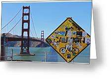 Golden Gate Stickers Greeting Card