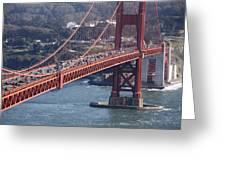 Golden Gate Traffic Greeting Card