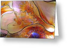 Golden Glass Waves Greeting Card