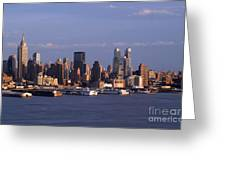 Golden Glow Of New York City Greeting Card