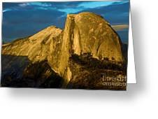 Golden Half Dome Greeting Card