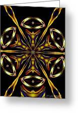 Golden Kaleidoscope Greeting Card