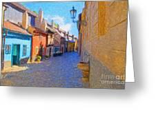 Golden Lane Greeting Card