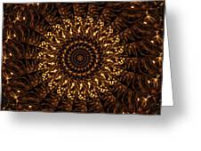 Golden Mandala 3 Greeting Card