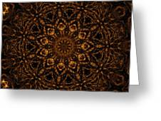 Golden Mandala 4 Greeting Card