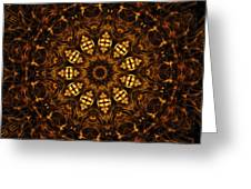 Golden Mandala 6 Greeting Card