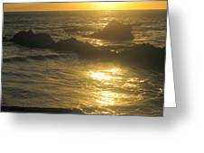 Golden Maui Sunset Greeting Card
