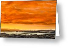 Golden Morning Over Humboldt Bay Greeting Card