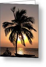 Golden Palm Greeting Card