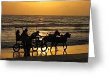 Golden Rides Greeting Card