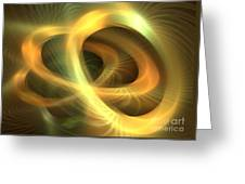 Golden Rings Greeting Card