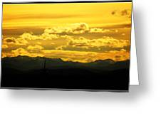 Golden Skies Greeting Card