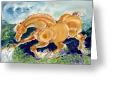 Golden Stride Greeting Card