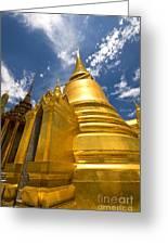 Golden Stupa In Grand Palace Bangkok Greeting Card