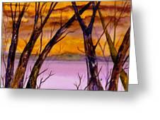 Golden Sunset Greeting Card