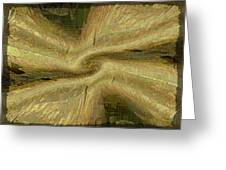Golden Tug Of War Greeting Card