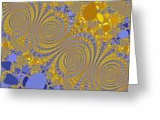 Golden Vortices Greeting Card