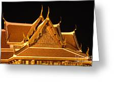 Golden Wat Temple Thailand Greeting Card