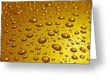 Golden Water Drops. Business Card. Invitation Etc. Greeting Card