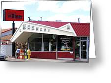 Goldie's Route 66 Diner  Greeting Card