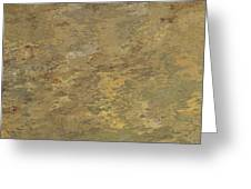 Goldtone Stone Abstract Greeting Card