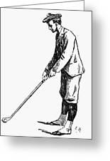Golf, 1891 Greeting Card