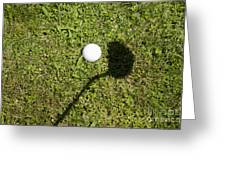 Golf Ball And Shadow Greeting Card